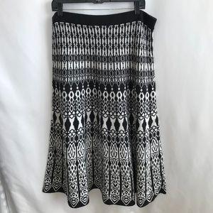 Cato Black/White Knit Skirt